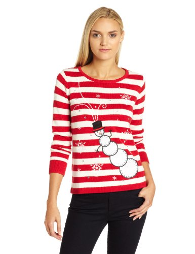 Christmas sweater red white stripe x large ugly christmas