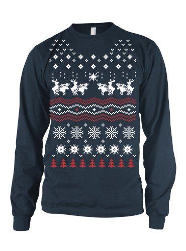 b6205c88e Humping Moose LONG SLEEVE Shirt funny Christmas tee ugly sweater shirt XXL