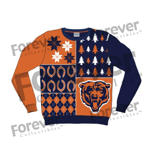 new product 4e1cd 07874 NFL Chicago Bears Busy Block Ugly Sweater, Medium, Orange ...