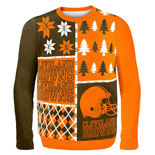 Cleveland Browns Christmas Sweater.Nfl Cleveland Browns Busy Block Ugly Sweater Medium Orange