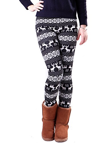 a55872db4e7b6 When snow starts falling, warm yourself with a pair of comfortable, fleece  lined, knit leggings. Made of cotton-spandex blend that keeps the ...