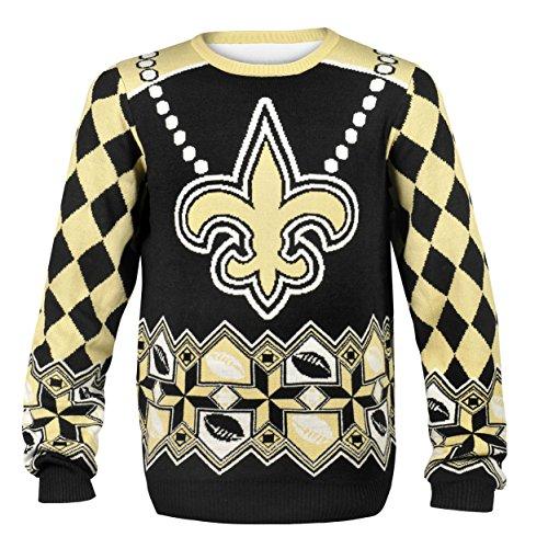 5939bdd3 NFL New Orleans Saints Drew Brees #9 Ugly Sweater, Large, Black ...