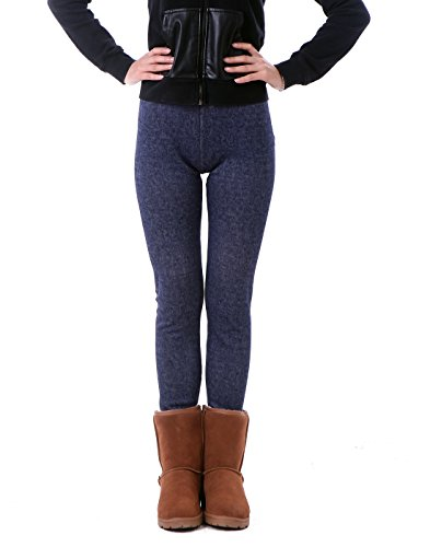 9874f5ab373614 When snow starts falling, warm yourself with a pair of comfortable, fleece  lined, knit leggings. Made of cotton-spandex blend that keeps the ...