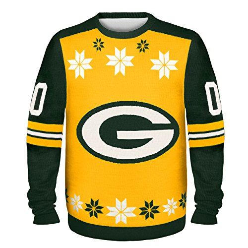 brand new 92ba0 bb5ac NFL Green Bay Packers Almost Right But Ugly Sweater, Large ...