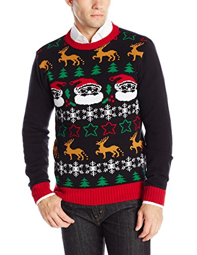 The Ugly Christmas Sweater Kit Men 39 S All Over Xmas Black