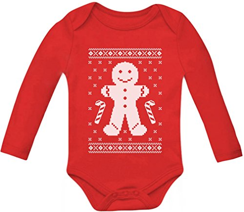 Gingerbread Man Ugly Christmas Cookie Sweater Cute Baby Long Sleeve