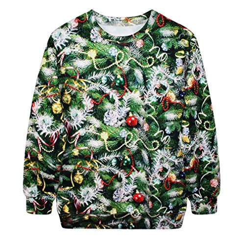 Saym christmas santa claus cute print pullover sweater jumper outwear