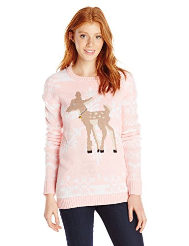 Derek heart junior 39 s reindeer snowflake tunic pullover for Over the top ugly christmas sweaters