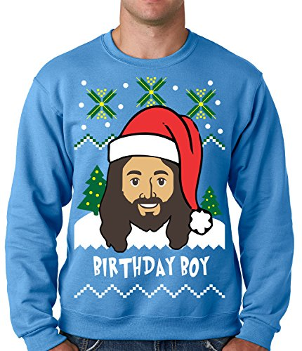 get your hands on this amazing jesus birthday boy ugly christmas sweater sweatshirt all of our jesus birthday boy ugly christmas sweater crewneck