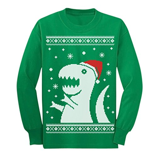 2ea6ae882 Big Trex Santa Ugly Christmas Sweater – Children Funny Long sleeve kids T- Shirt