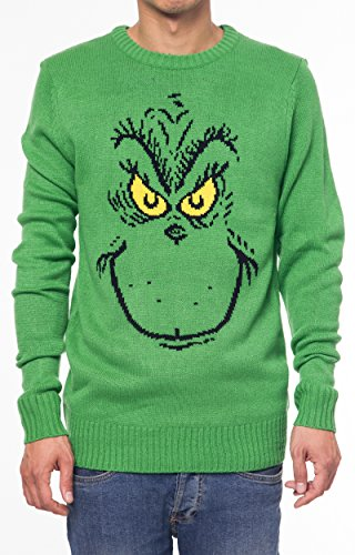 dr seuss the grinch who stole christmas print sweater it is a unisex style runs a little small for mens sizing please read measurements for proper fit - How The Grinch Stole Christmas Sweater