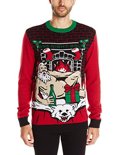 the ugly christmas sweater kit mens romantic santa light up cayenne xx large