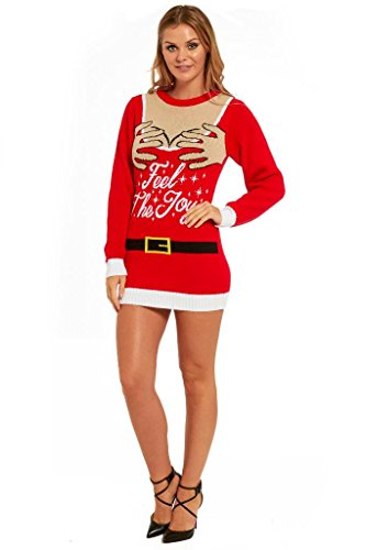 embrace the spirit of the festive season with a sweater thats sophisticated and classic yet with a charming christmas splash - Feel The Joy Christmas Sweater