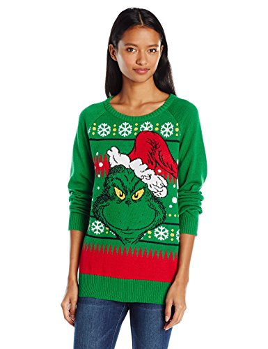 hybrid apparel womens dr seuss the grumpy grinch christmas sweater - Grinch Ugly Christmas Sweater