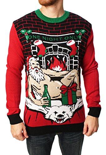 Mens light up christmas sweater