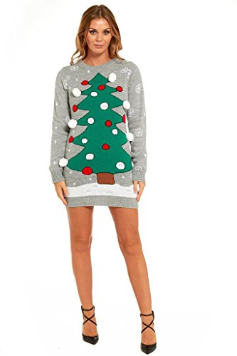 More Designs! Knitted Ladies Christmas Dress Womens ...