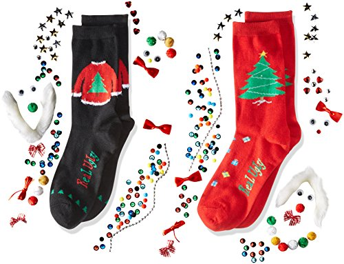 Real ugly christmas 2 pack kit gift design your own sweater and real ugly socks sweater sock do it yourself box kit keep your feet cozy with cheer using this customizable diy sock kit from real ugly socks solutioingenieria Images