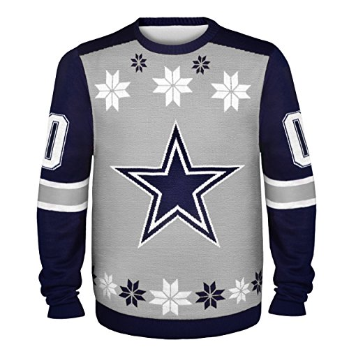 nfl dallas cowboys almost right but ugly sweater large gray