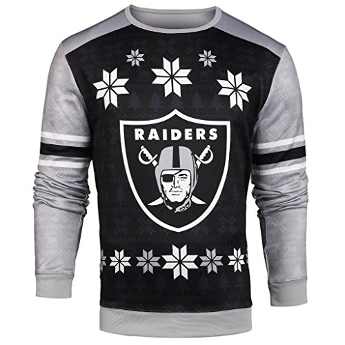 nfl mens printed ugly sweateroakland raiders - Ugly Christmas Sweater Amazon
