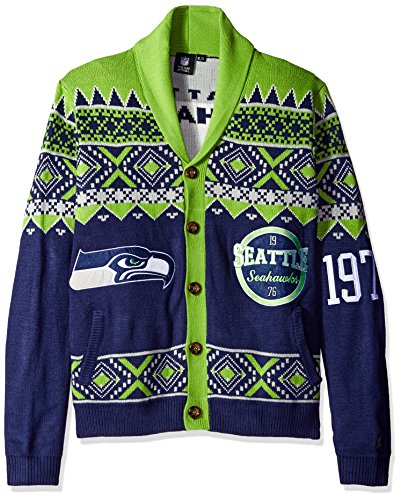 seattle seahawks 2015 ugly cardigan large - Seahawks Christmas Sweater
