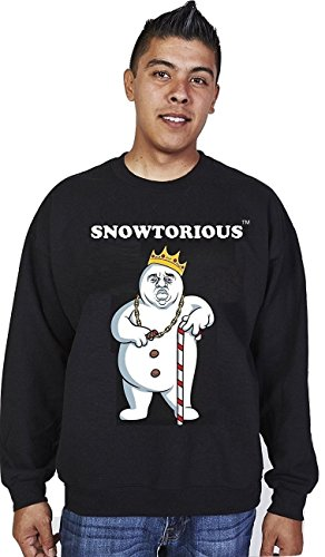 snowtorious ugly christmas sweater 2xl black - Black Ugly Christmas Sweater