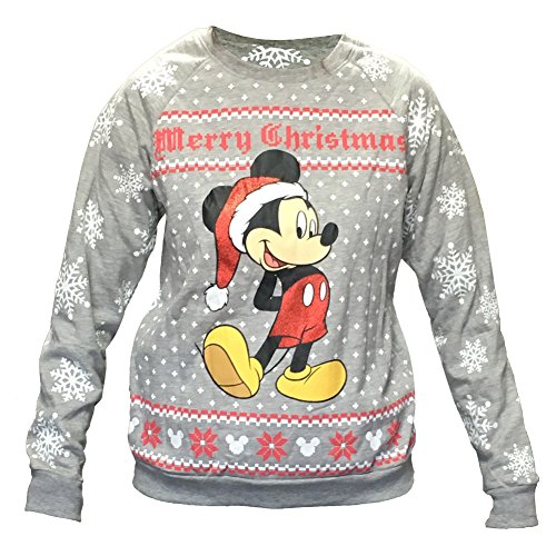 "d5f71587c This Mickey Mouse Plus Size Sweatshirt features print of Mickey and  snowflakes with the words ""Merry Christmas"" on the front."
