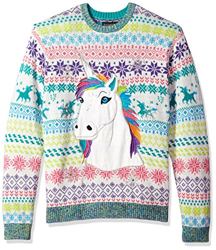 Blizzard Bay Men S Rainbow Unicorn Crew Neck Ugly Xmas