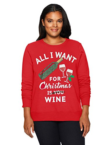 just my size women's plus size ugly christmas sweatshirt, all i
