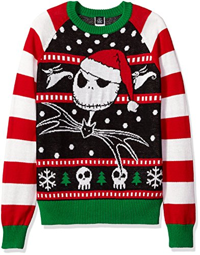 Disney Ugly Christmas Sweater.Disney Men S Jack The Jolly Pumpkin King Ugly Christmas