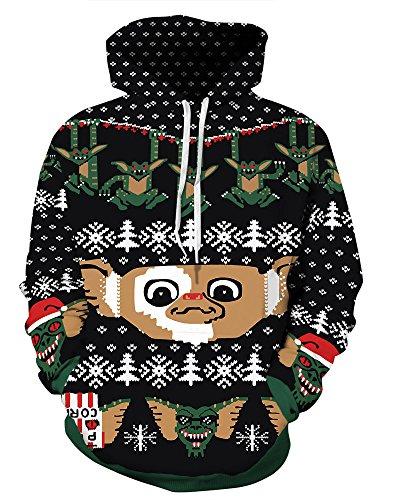 3x Ugly Christmas Sweater.Grace S Secret Couple 3d Santa Print Ugly Christmas Kangaroo