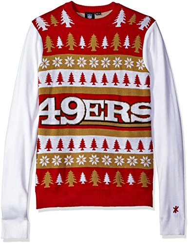 foco san francisco 49ers one too many ugly sweater double extra large