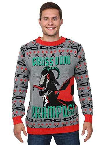 3x Ugly Christmas Sweater.Funcominc Gruss Vom Krampus Men S Gray Ugly Christmas