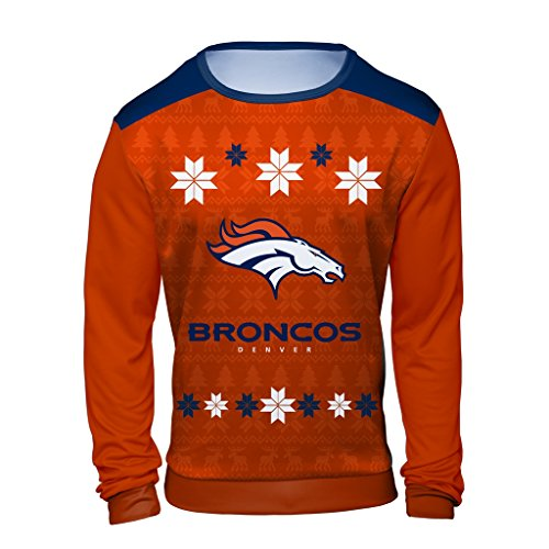 huge discount b34bf aa487 NFL Denver Broncos Men's Holiday Ugly Sweater, XX-Large ...