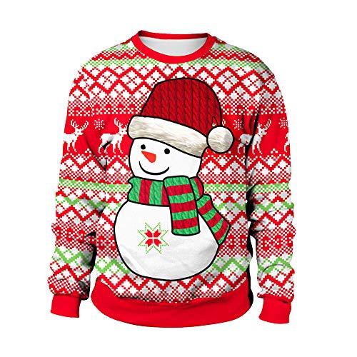 Plus Size Ugly Christmas Sweater.Simayixx Sweatshirts For Women Funny Snowflake Print Ugly
