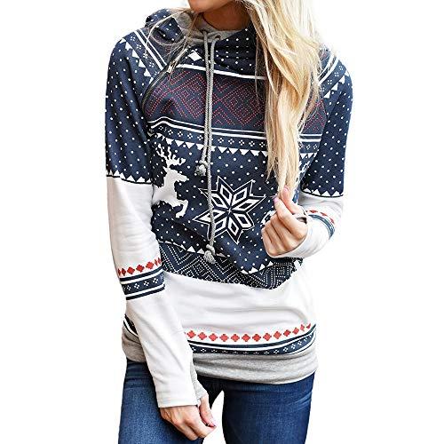 cfe4ce051e Simayixx Sweatshirts Women Women Reindeer Ugly Christmas Sweater Xmas  Snowflakes Pullover Jumper Tops(S-2XL)