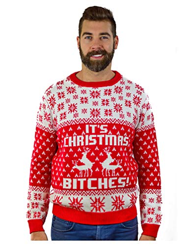 313fe9d76 Great for the ugly Xmas sweater party!. Premium quality sweater. 100%  Acrylic, 8 oz thick fabric weight, classic fit, crew neckline, ribbed sleeve  ...