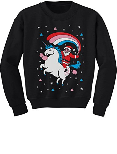 eaf3e796 Santa Riding Unicorn Rainbow Ugly Christmas Sweater print for baby boy /  girl. Great for the holiday season and for Xmas family photos. Cute little  kids ...